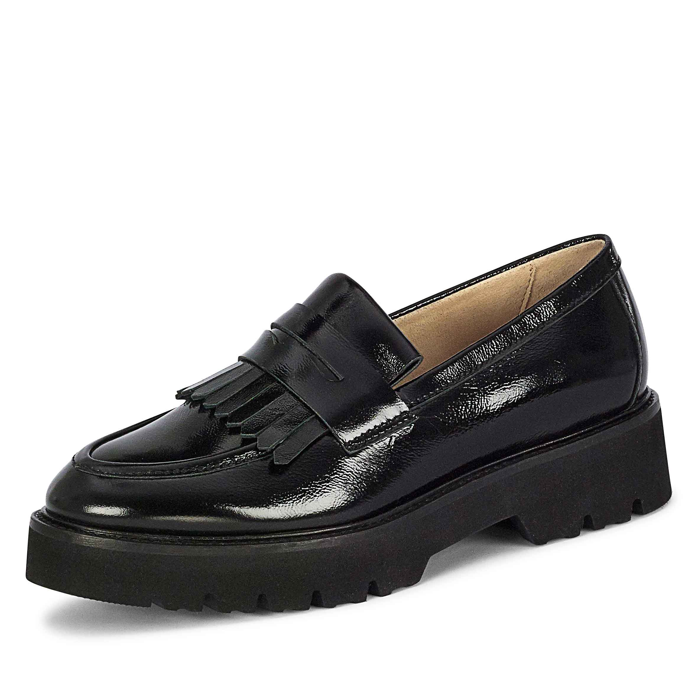 Chunky Slippers Loafers schwarz