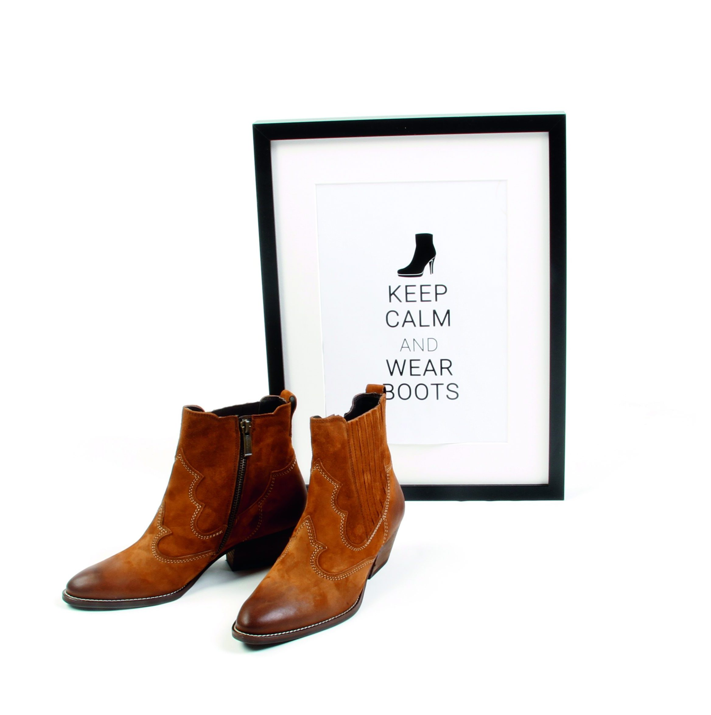 Spruch: Keep Calm And Wear Boots