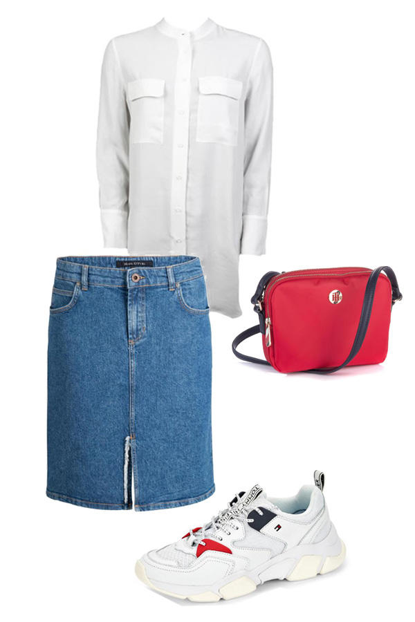 Sommeroutfit Jeansrock