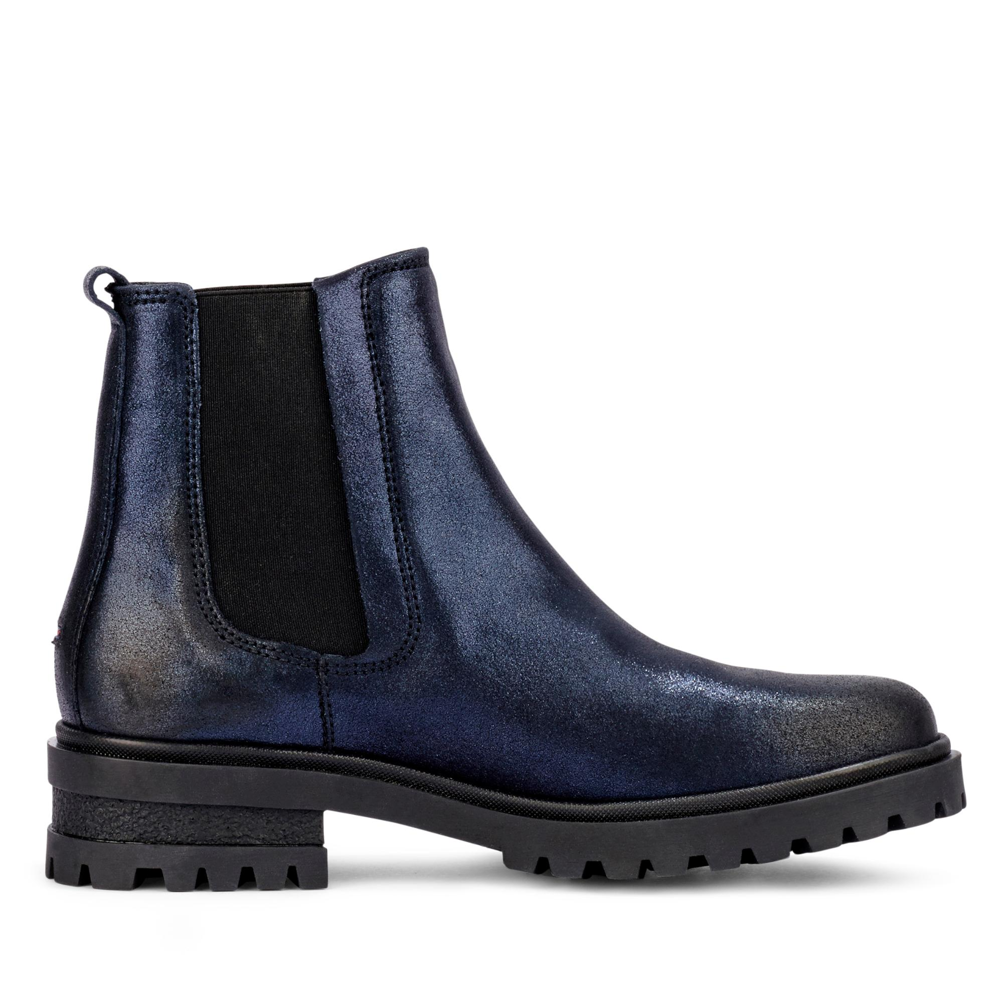 7a84a73ada7be7 Tommy Jeans Damen sportive Chelsea Boots Stiefelette Nubukleder ...