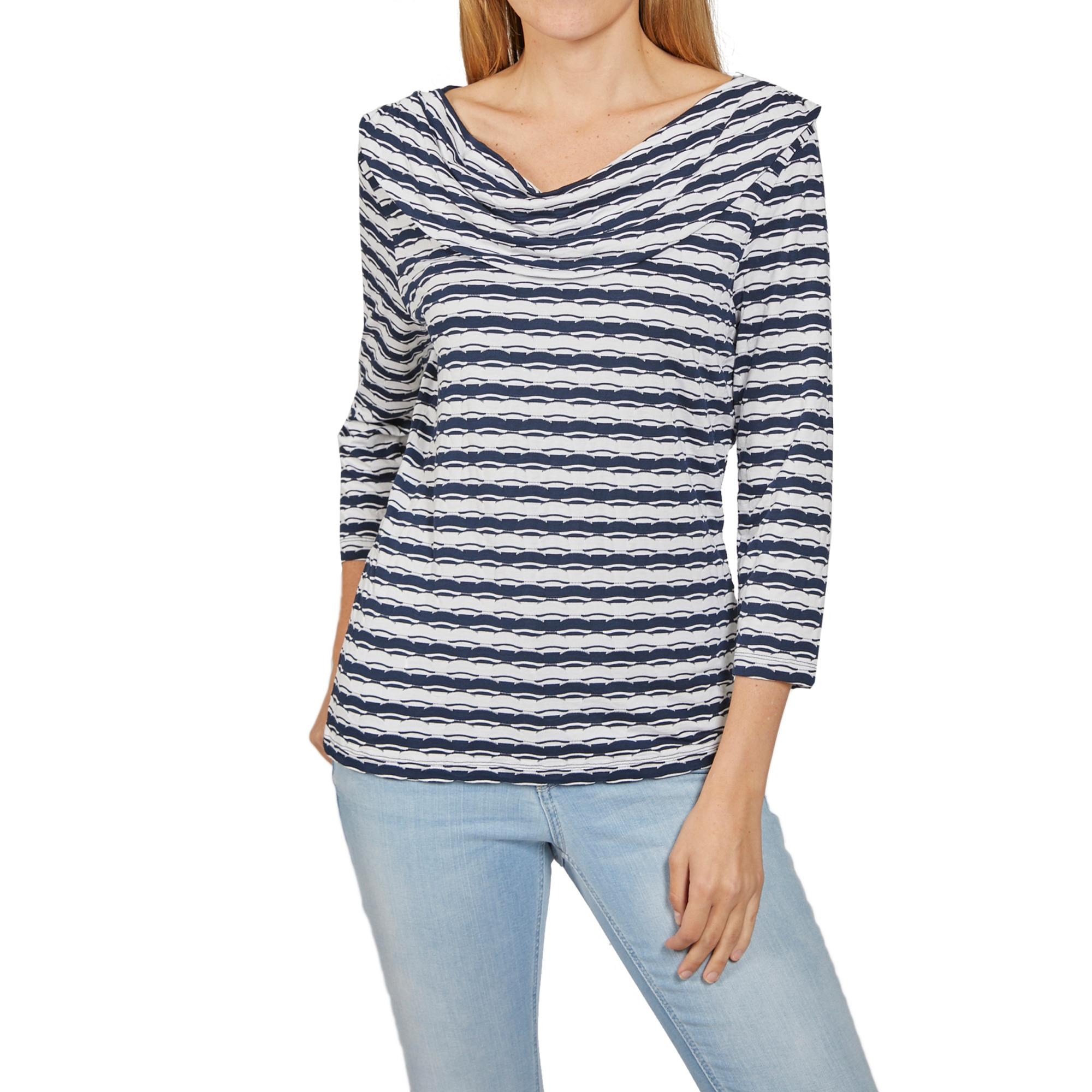 Betty Barclay Damen Shirt Langarmshirt Blausenshirt Freizeit Kleidung Mode blau