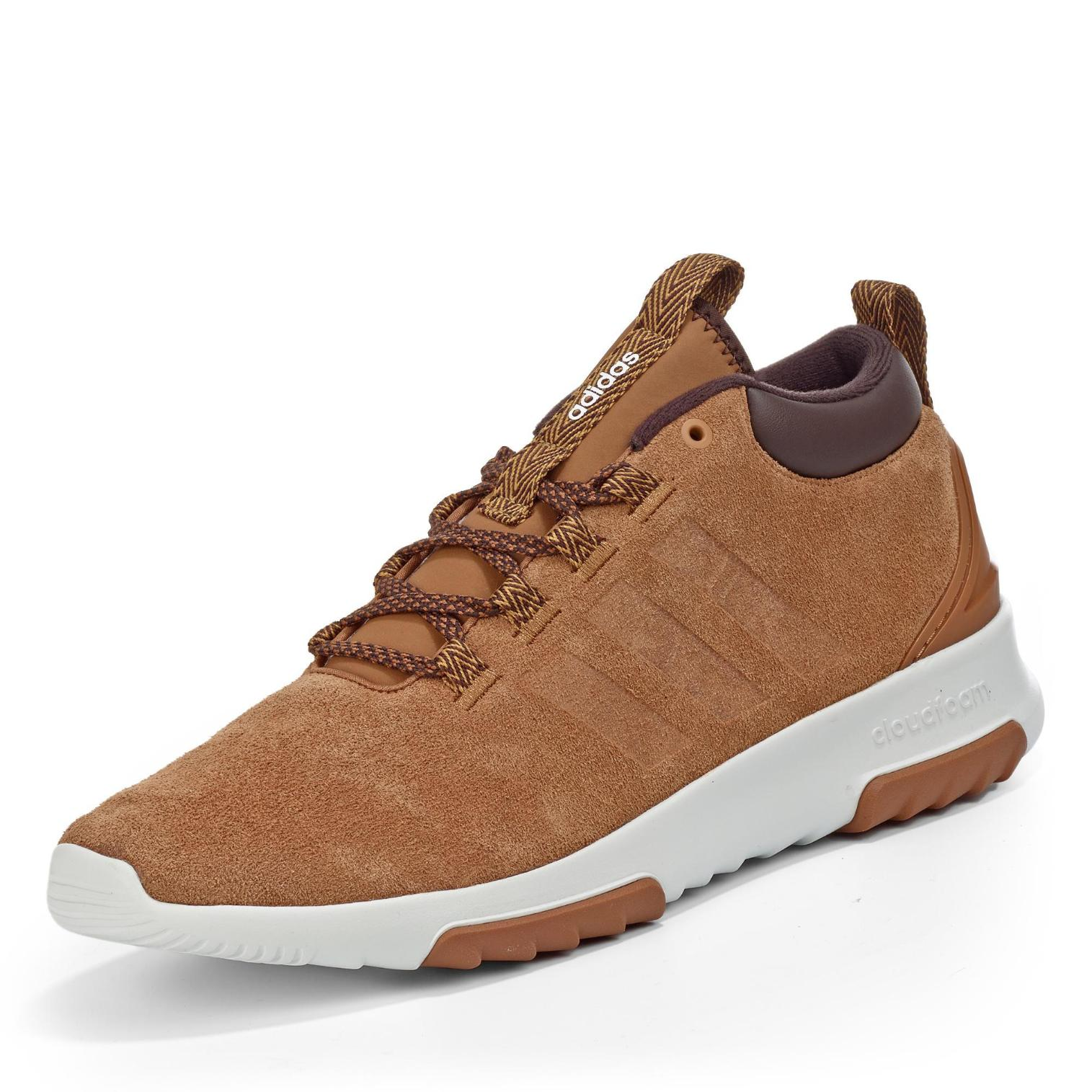 adidas neo cloudfoam Racer Mid Sneakerboots in Farbe hellbraun