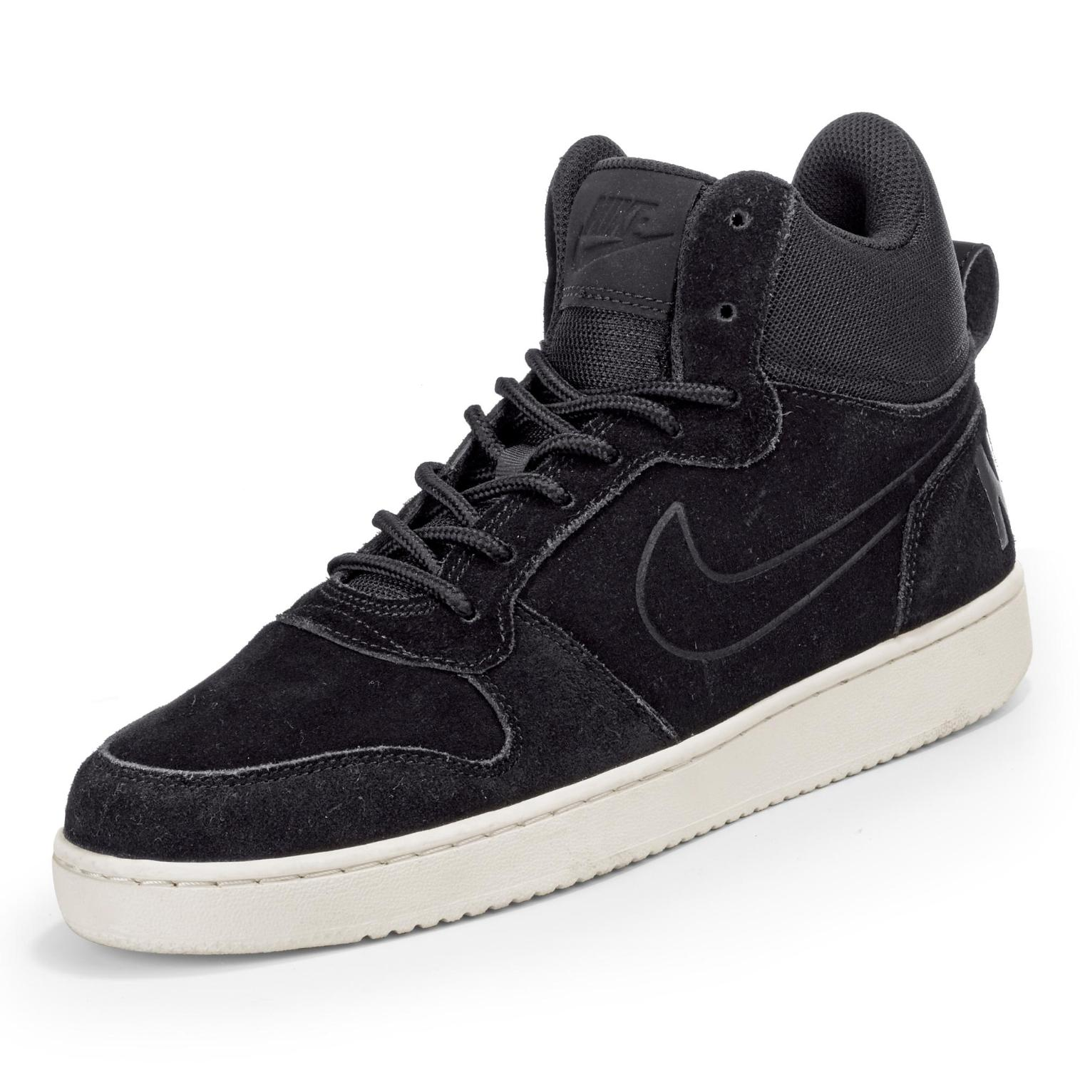 Nike Court Borough Mid Sneaker in Farbe schwarz