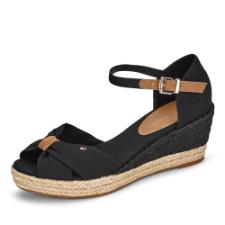 Tommy Hilfiger Basic Opened Toe Mid Wedge Sandalette